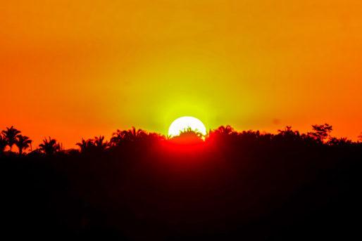 Por do sol em Parauapebas