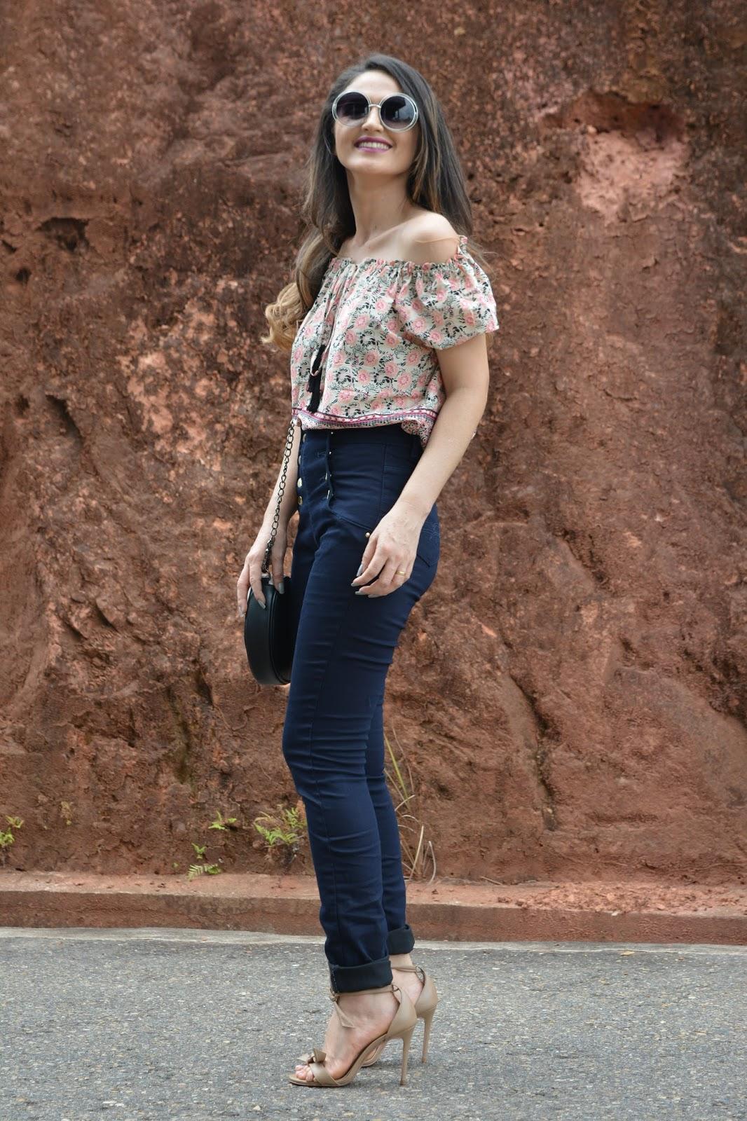 Look para o trabalho  Calça Jeans cintura alta – Chocopeba cd49e6479d12f