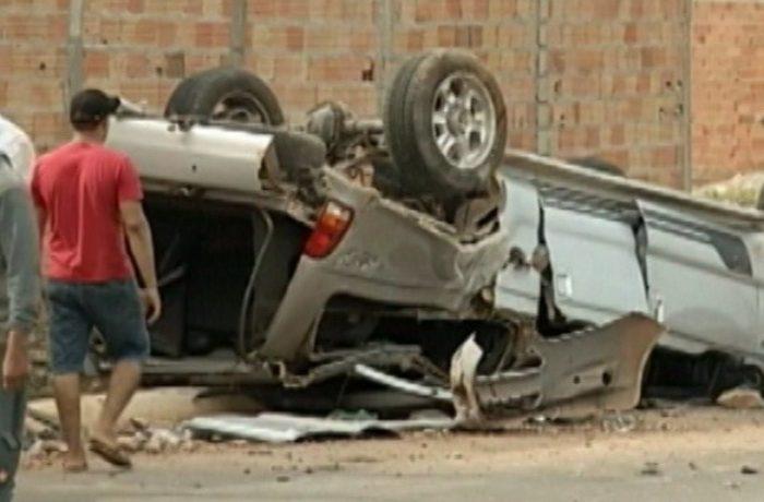 Veículo fica destruído em acidente em Parauapebas